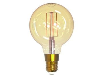 Wi-Fi LED ES (E27) Balloon Filament Dimmable Bulb, White 470 lm 5.5W